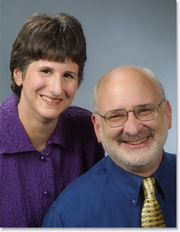 Studio photograph of Lynn F. Jacobs and Jeremy S. Hyman